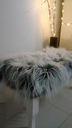 banqueta pie de cama nordico piel sintetica 0,90x0,45