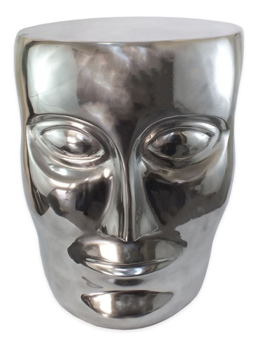 banqueta seat garden metal prata cabeça - 45x37 - 679