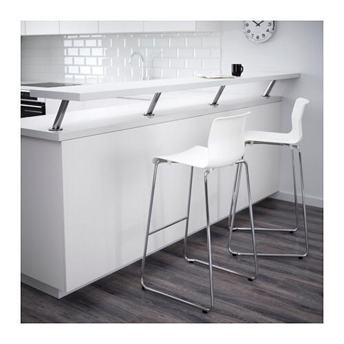 Banqueta - Silla Alta - Cocina - Barra - Ikea Apilables X 2 ...