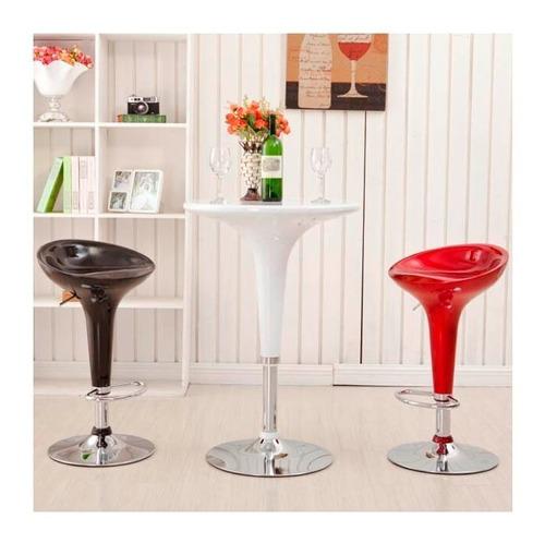 banqueta taburete g-design asiento pvc cromada pack x 2