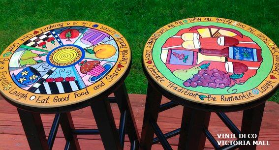 Banquetas altas pop art    980,72 en mercado libre