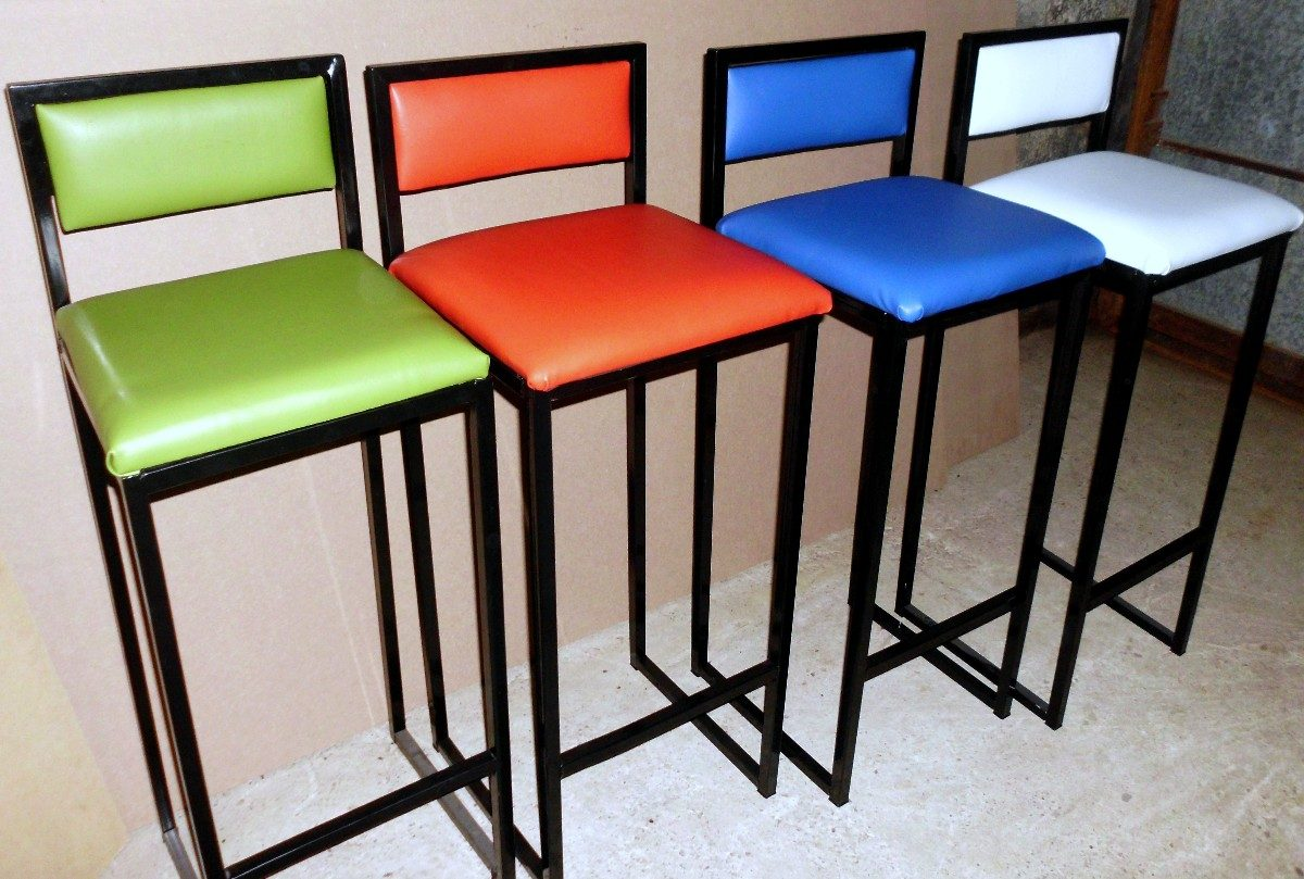 Banquetas taburetes sillas altas desayunador banco cajero for Modelos de tapizados para sillas