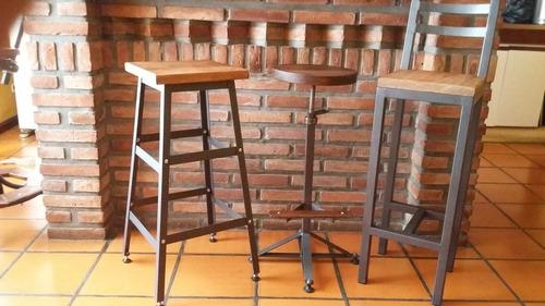 banqueta/taburete con respaldo.estilo industrial