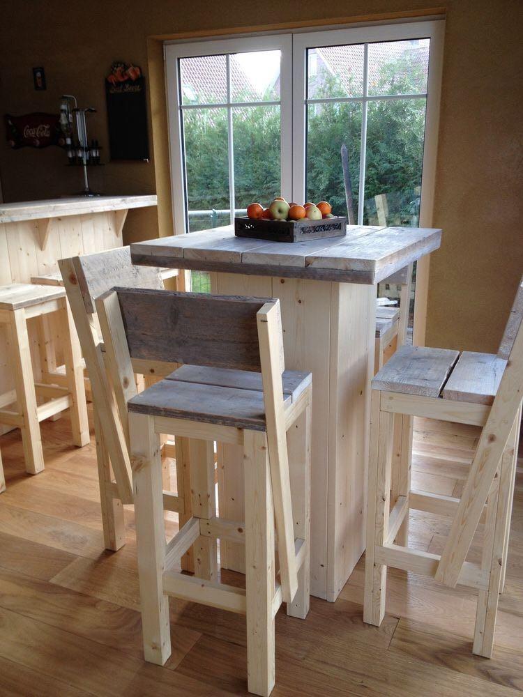 Banquetes con mesa alta bancos islas cocina - Islas de cocina moviles ...