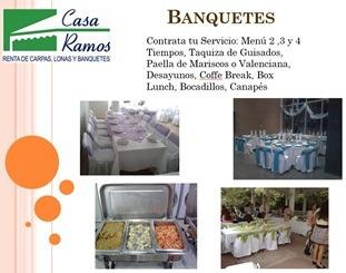 banquetes,taquizas,menus 3 tiempos