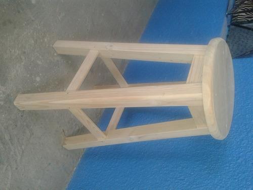 banquillo de madera 4 patas