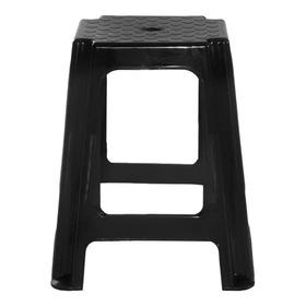Banquito  Banqueta Plástica Apilable Super Reforzada Negro