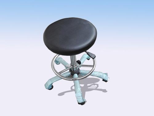 banquito con base cromada para mesa de dibujo