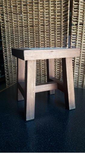 banquito de madera con ceramica fundacion bradesco