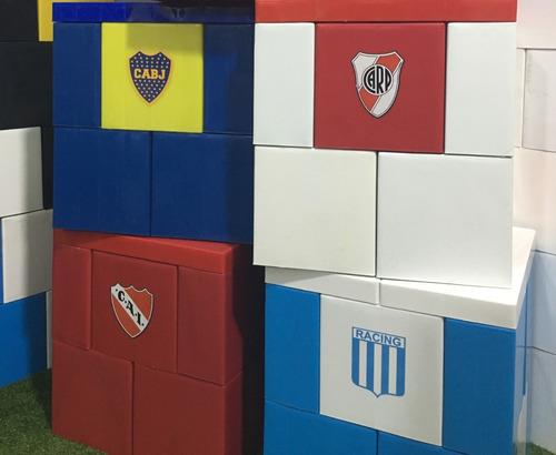banquito equipos de fútbol - ladrillos gigantes