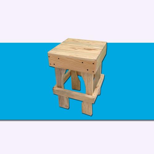 banquito madera tarima sustentable