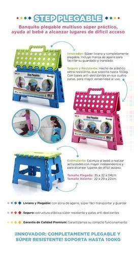 banquito plegable baby innovation multiuso step niños bebes