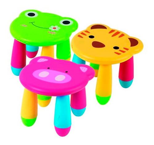 banquito silla banco banqueta animalitos infantil plastico