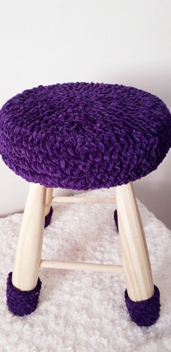 banquito tejido al crochet extra suave mamá olé