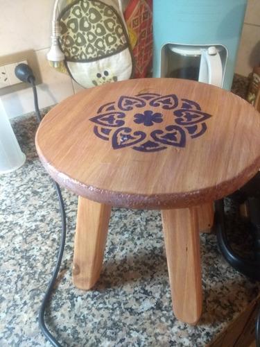 banquitos de madera artesanales para decorar