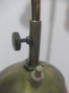 b.antigo-abajur anos 60 pedestal em porcelana haste em latão