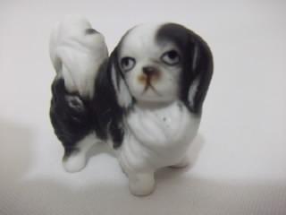 b.antigo - cachorro pequines miniatura em biskui francês