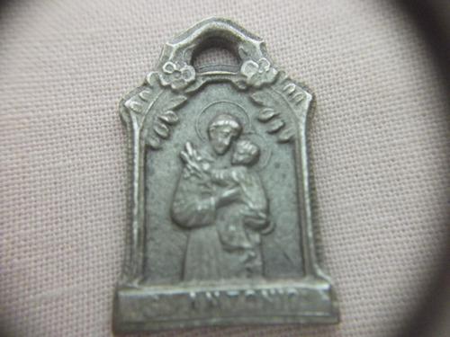 b.antigo - medalha sacra antiga de sto. antonio frete grátis