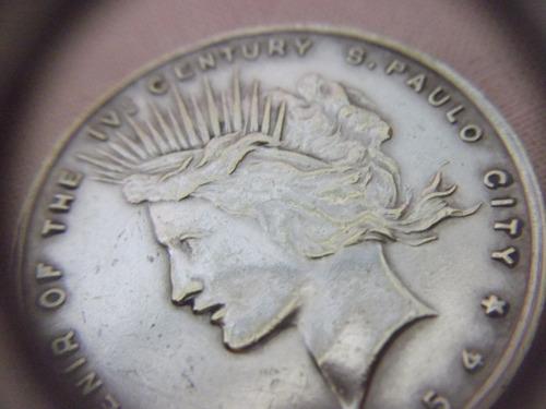 b.antigo - moeda em prata de lei iv centenário de são paulo