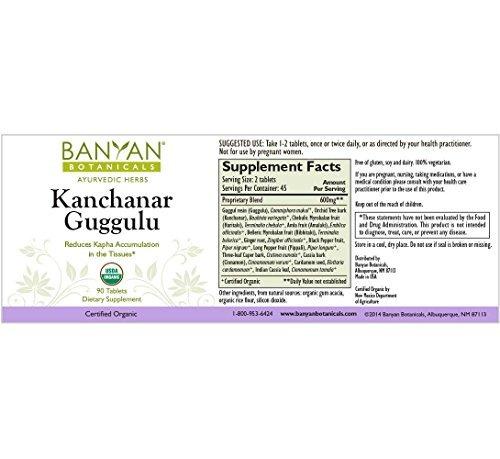 Banyan Botanicals Kanchanar Guggulu - Usda Organic - 90