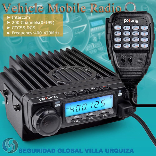 baofeng bf 9500 base movil uhf 50w 400 - 470 mhz nuevos gtia