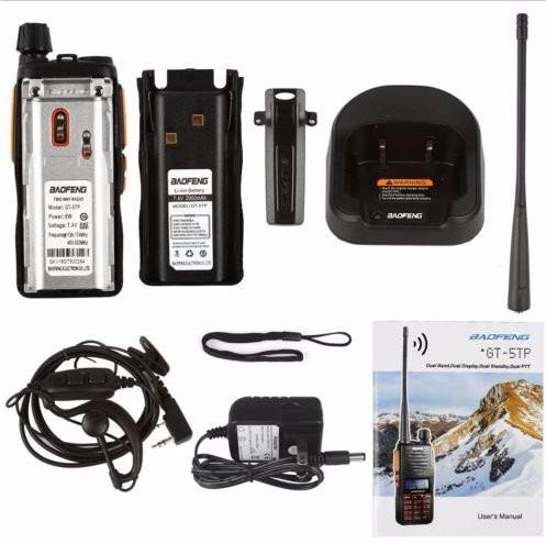 baofeng gt-5tp 8w hp - dual ptt - 136-174/400-520 mhz