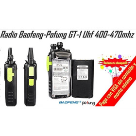 Baofeng Pofung Gt-1 Uhf 400-470mhz Fm Ham Radio