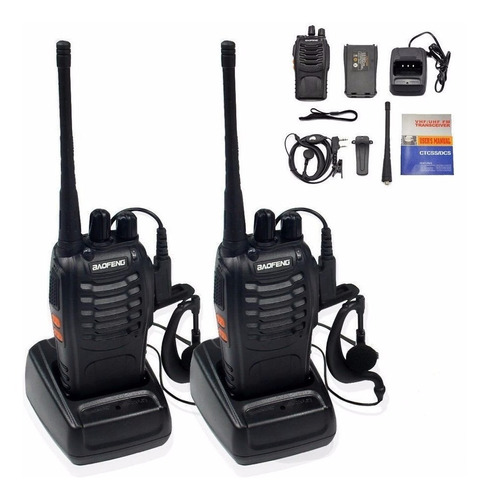 baofeng radio bf-888s walkie talkie con manos libres pack-14