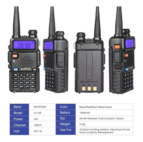 baofeng uv5r radio walkie talkie doble banda vhf uhf uv-5r r