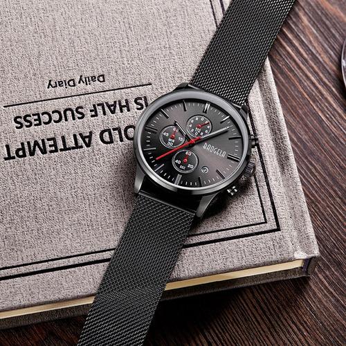 baogela 1611 cronógrafo hombres reloj con multi -función de