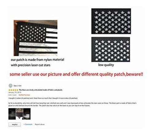 Pack of 5 Subdued Grey FREESHIP USA American Flag Embroidered Iron On Patch