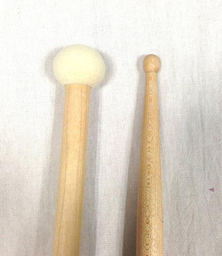 baqueta 3a combinada con mallet los cabos drumsticks