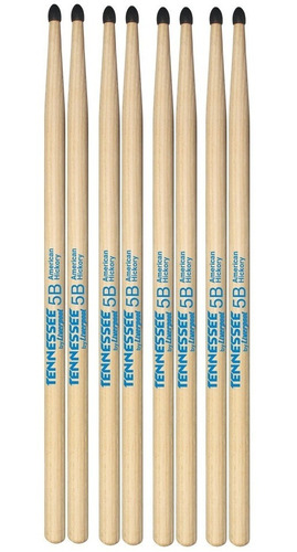 baqueta 5b hickory 4 pares tennessee liverpool tnhy 5bn