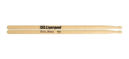 baqueta rock metal ponta de madeira marfim liverpool ro met