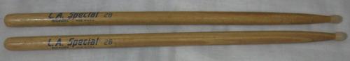 baquetas de bateria promark 2b de hickory punta de nylon