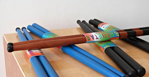 baquetas de madera para percusiòn 5a colores