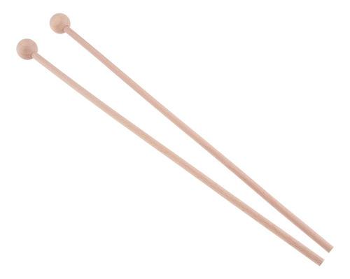 baquetas d/percusión duraderos cabezal redondo p/xilófono 2u
