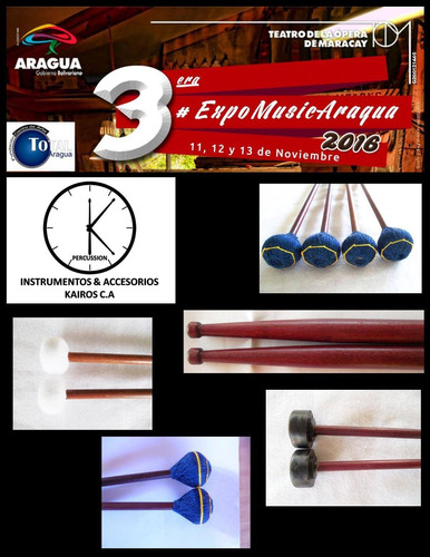 baquetas para marimba,timpani,xilofono kairosdrumstick