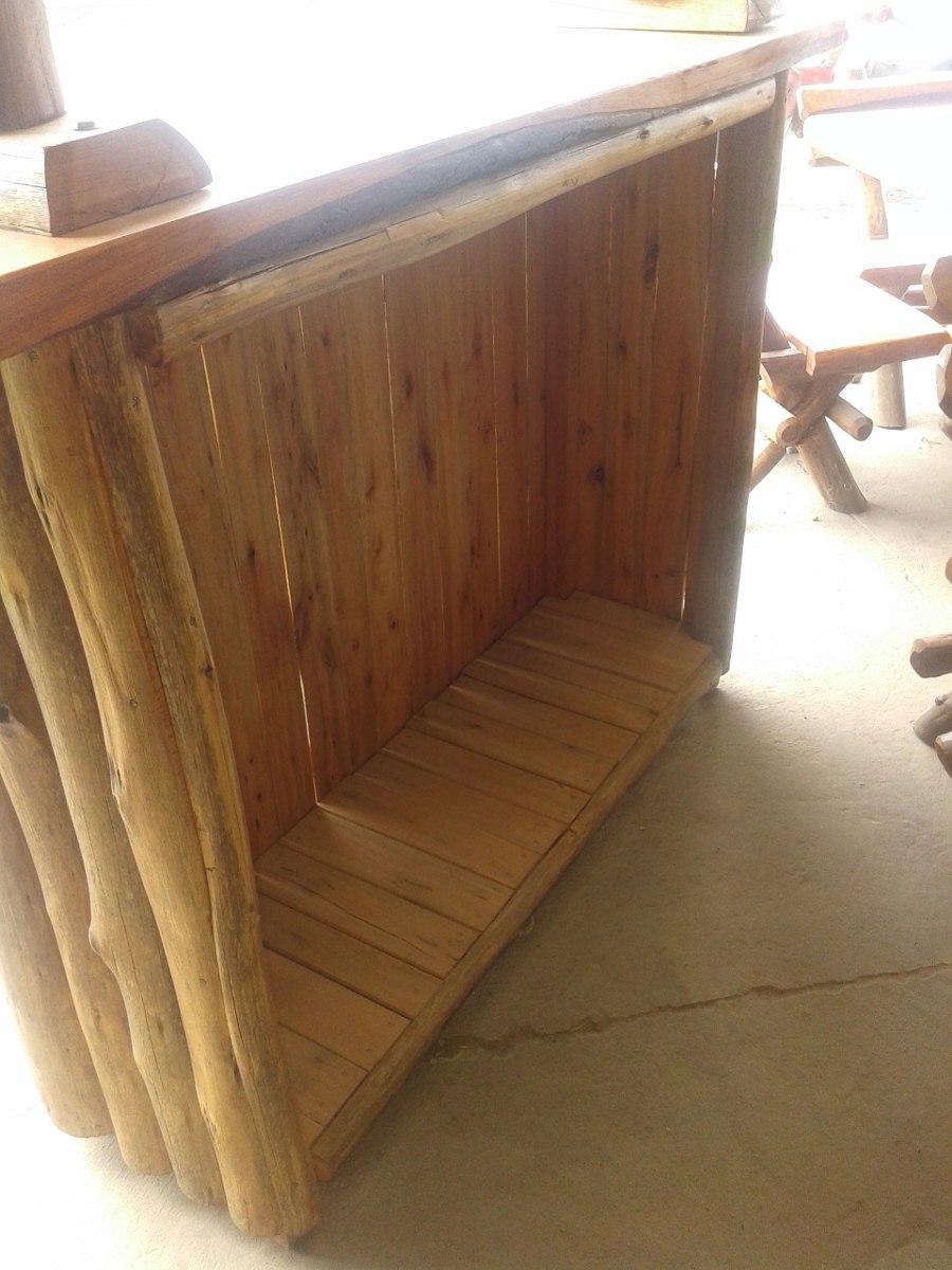 Rusticas para bares bares de cantonera de cipres ud for Barras rusticas de madera para bares