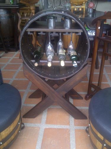 bar caballete licorera porta botellama barril o barricas