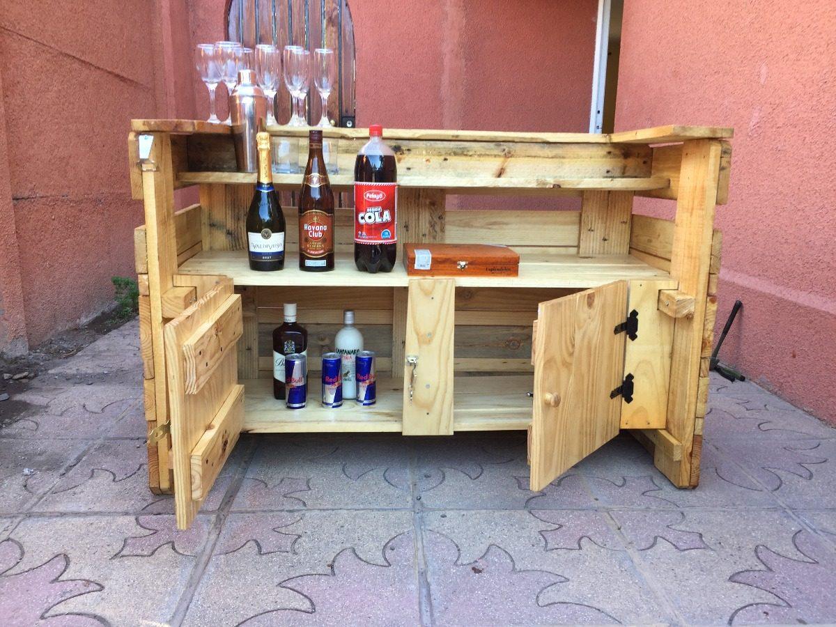 Bar de palets con puertas medidas 120x80x60 for Puertas de palets