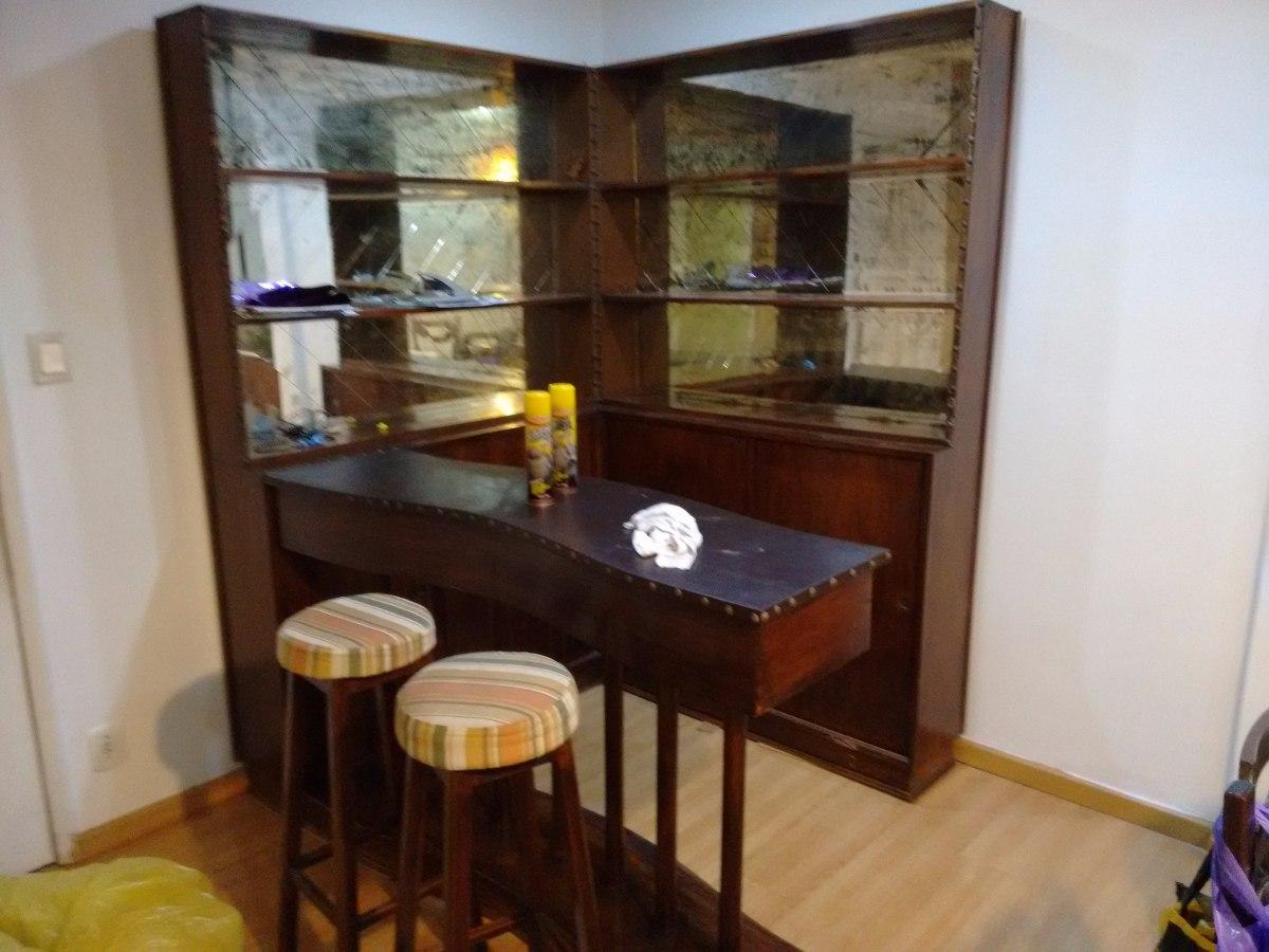 Bar de sala em formato l com balc o para resid ncia r for Bar de madera para sala