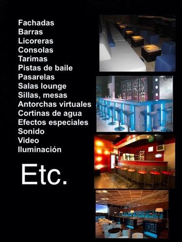 bar discoteca o café todo en sonido luces mobiliario karaoke