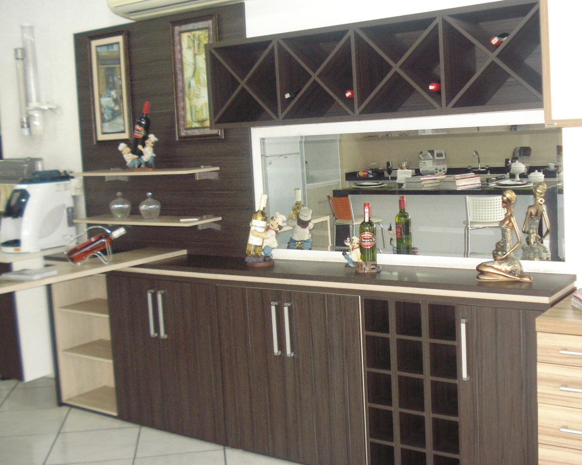 #7C6A4F Bar E Balcão Com Painel R$ 5.500 00 em Mercado Livre 1200x958 píxeis em Balcão De Bar Para Sala De Estar