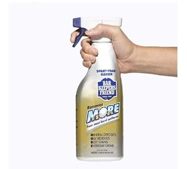 bar keepers friend spray and foam cleaner!