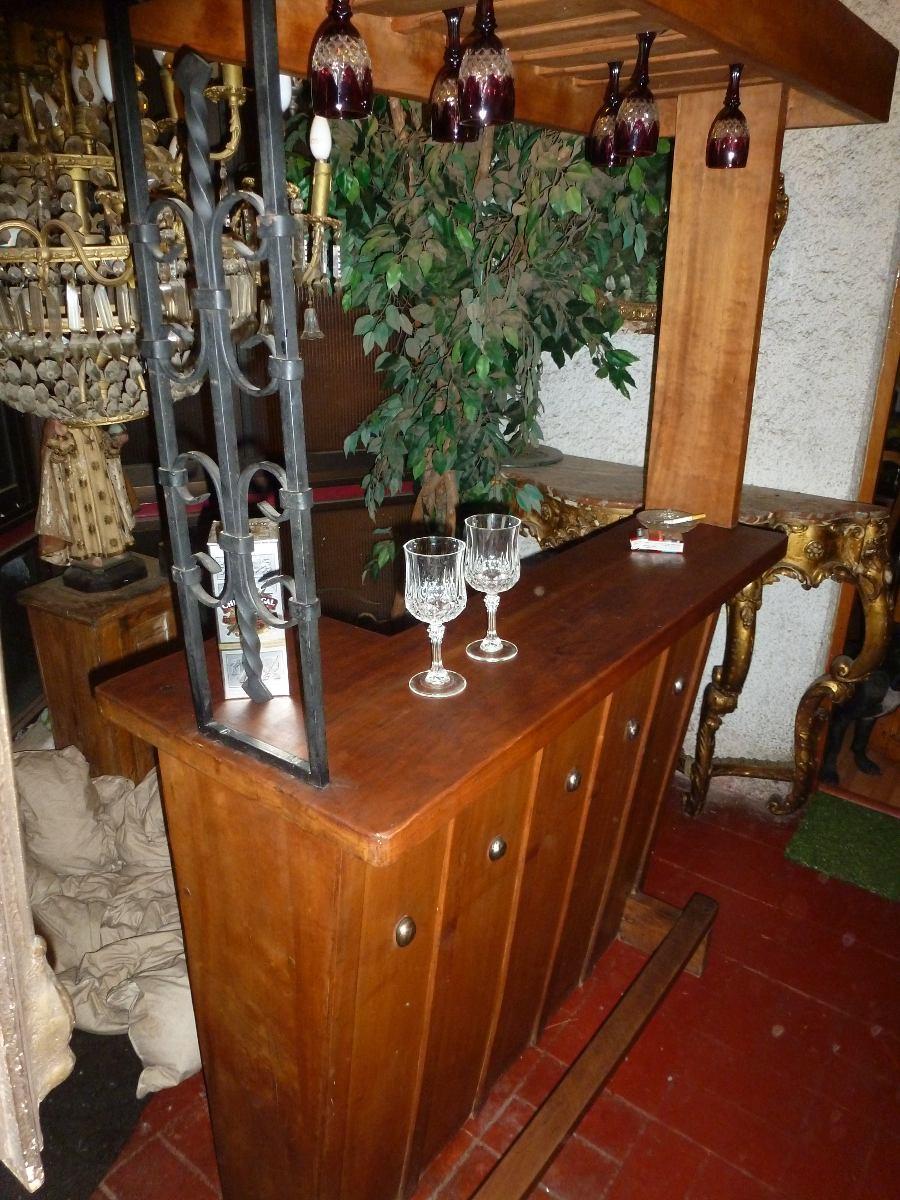 Bar madera nativa cohue entarugado encerado herrajes fino for Bar rustico de madera nativa