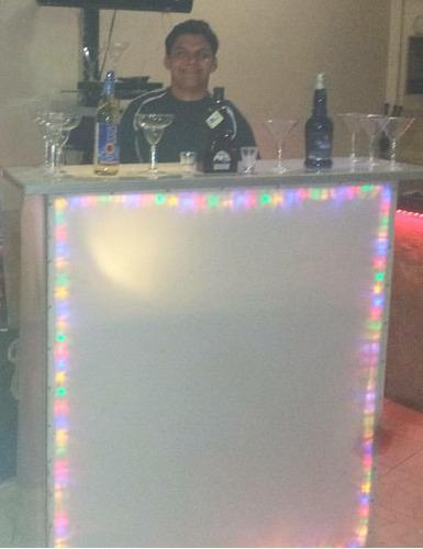 bar movil y robot led