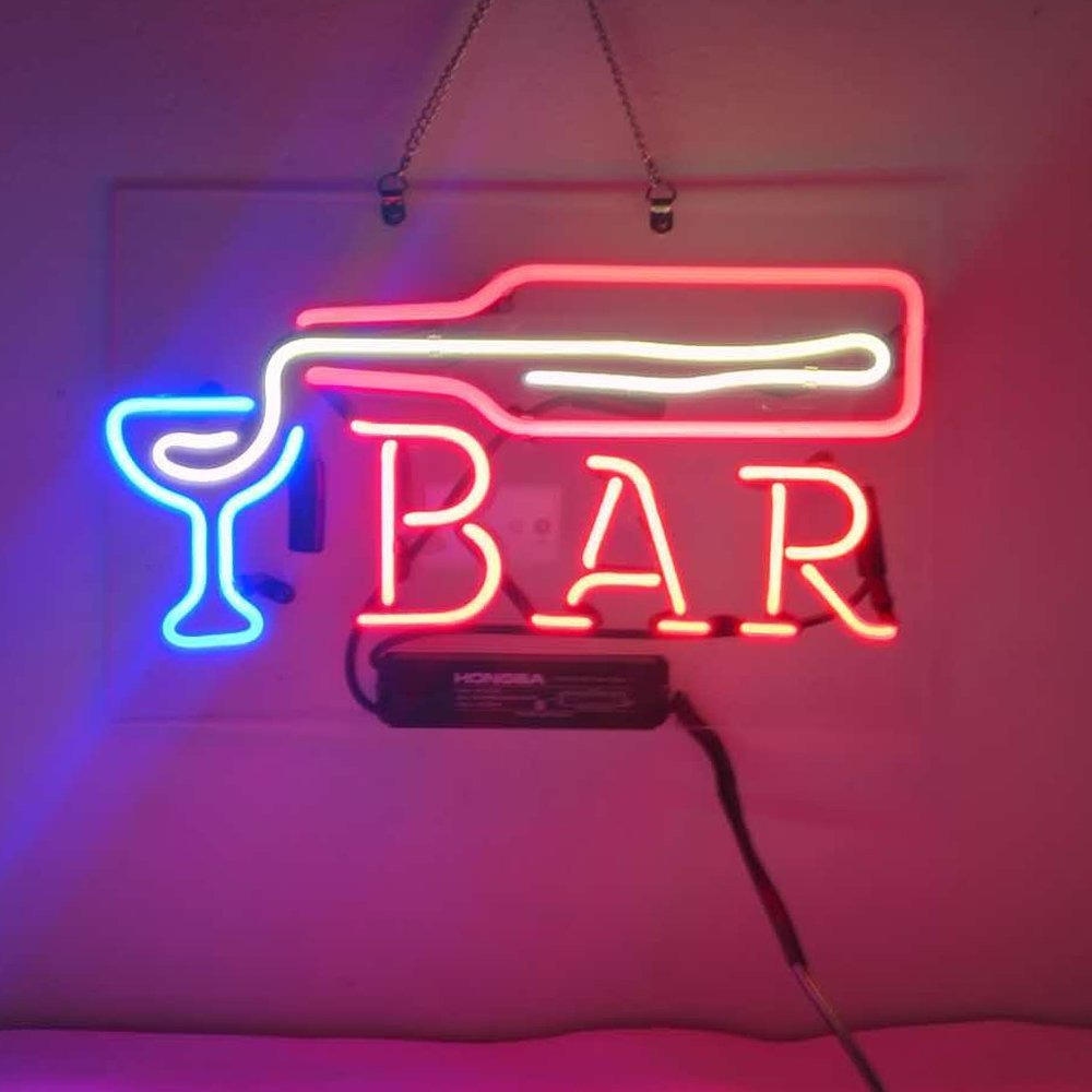 Bar pour beer real glass display beer bar neon light sign 14 bar neon light sign 14 cargando zoom aloadofball Images