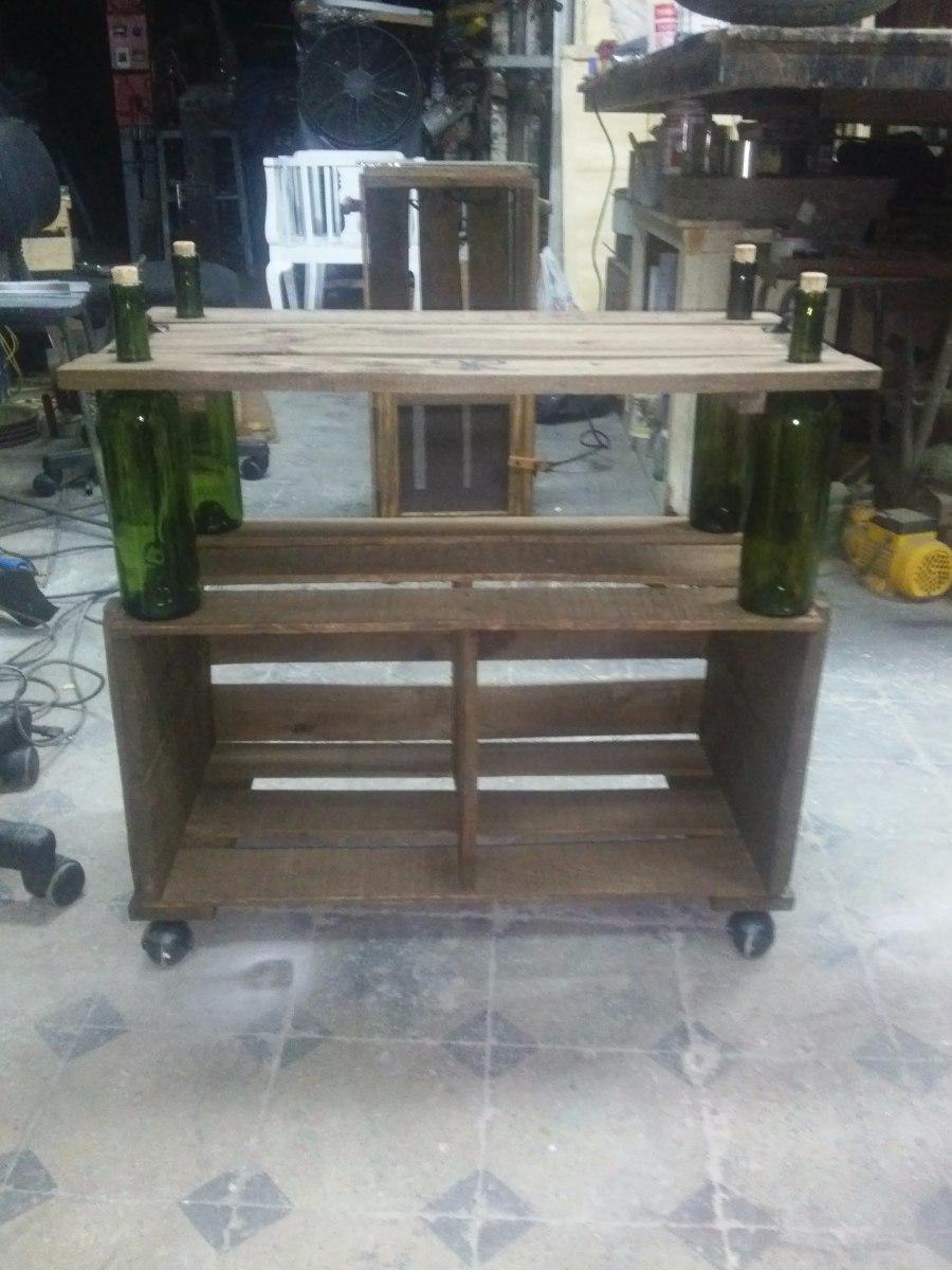 Bar rustico de madera en mercado libre for Bar de madera usado