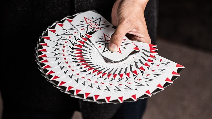 Playing Cards White Cardistry Fanning